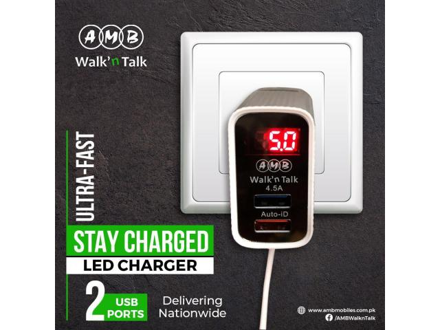 AMB 4.5A Charger for Android with LED Display